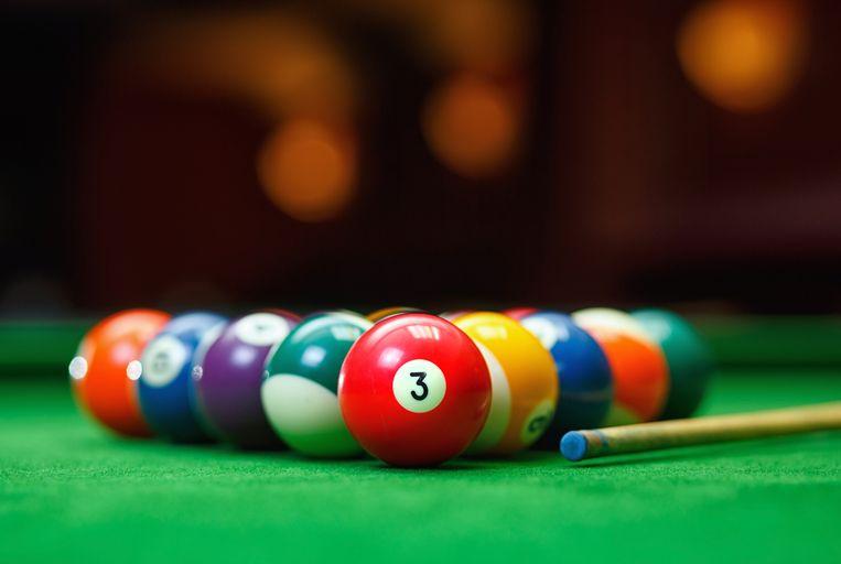 Billiard balls in a green pool table, game Beeld Thinkstock