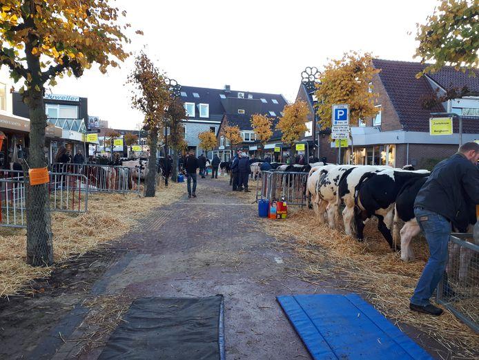 Het begin van de veemarkt.