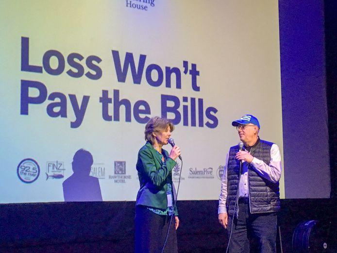 Helge Prinsen wordt na de filmvoorstelling geïnterviewd door Rinus Oosthoek.
