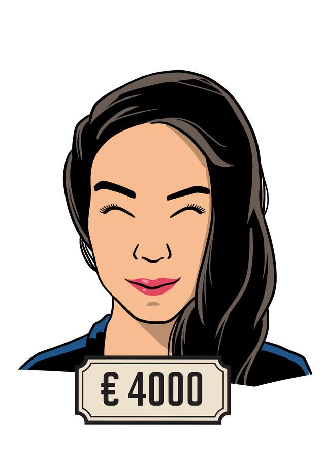 Joanna verdient 4000 euro bruto (fulltime) als sales consultant.