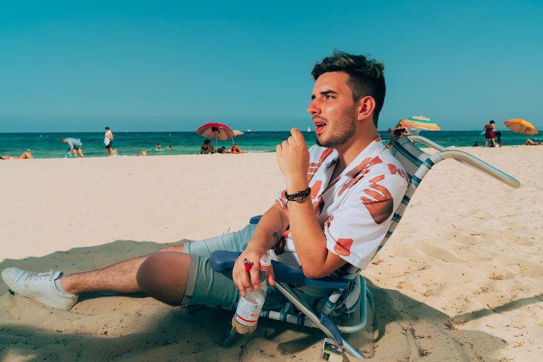 20180807 Ibiza  Boris Daenen, beter bekend als Netsky, is op vakantie in Ibiza. Beeld Illias Teirlinck