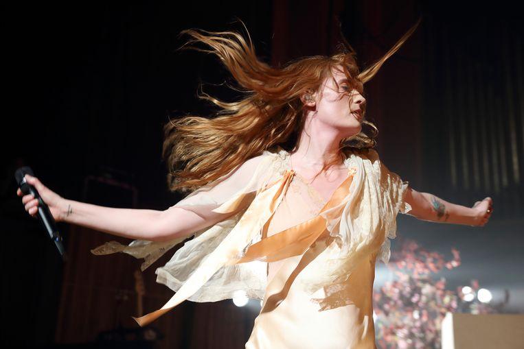 Florence + The Machine, in mei 2018 in de Royal Festival Hall in Londen. Beeld Redferns