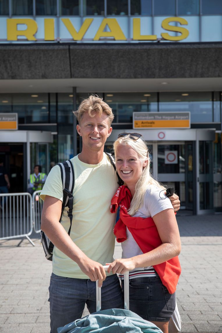 Rinand Post (26) en Sterre de Ruyter (22) uit Franeker. Beeld Werry Crone
