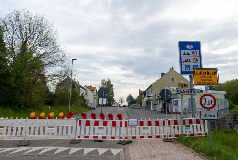 Een stuk van de Frans-Duitse grens.  Beeld AFP