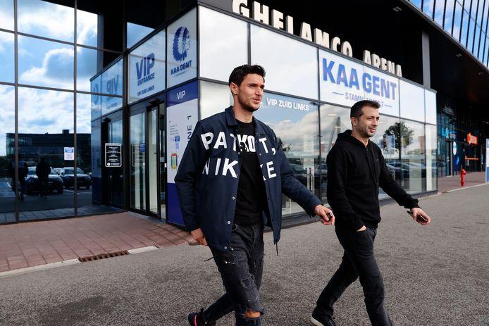 Roman Yaremchuk vanmiddag op de club.