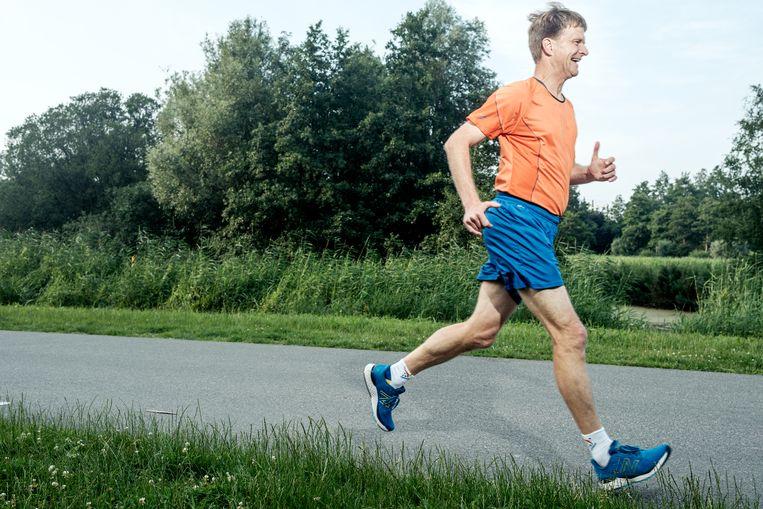 Nitish Zuidema: 'Het verschil met een marathon: je wil niet sneller, maar verder.' Beeld Jakob van Vliet