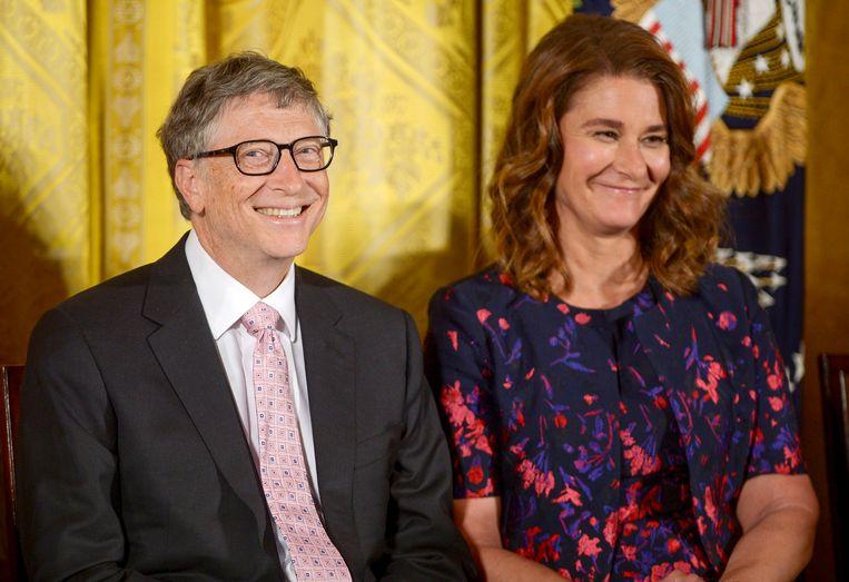 Bill en Melinda Gates in 2016 Beeld WireImage