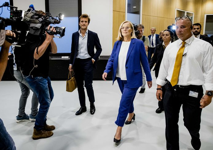 Demissionair minister van Buitenlandse Zaken Sigrid Kaag nadat ze bekendmaakte terug te treden als minister.