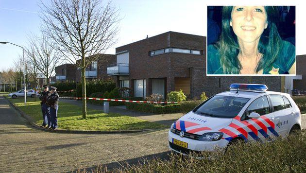 Agenten staan voor het huis van de ex-man van de vermiste Claudia Oskam in Zevenbergen. De vrouw is sinds vrijdag vermist. Haar ex-man is aangehouden. De politie verdenkt hem ervan dat hij iets met de verdwijning van zijn ex te maken heeft.