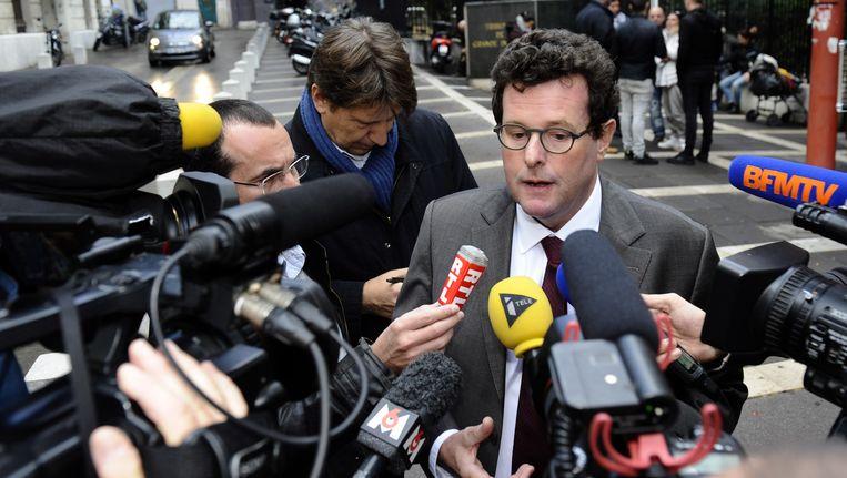 Jean Reinhart, advocaat van een van de beschuldigde piloten. Beeld AFP