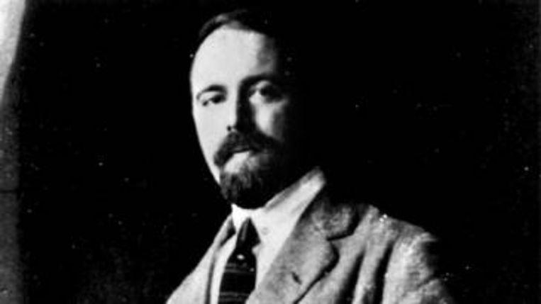 Pieter Geyl in Londen, 1922. Beeld
