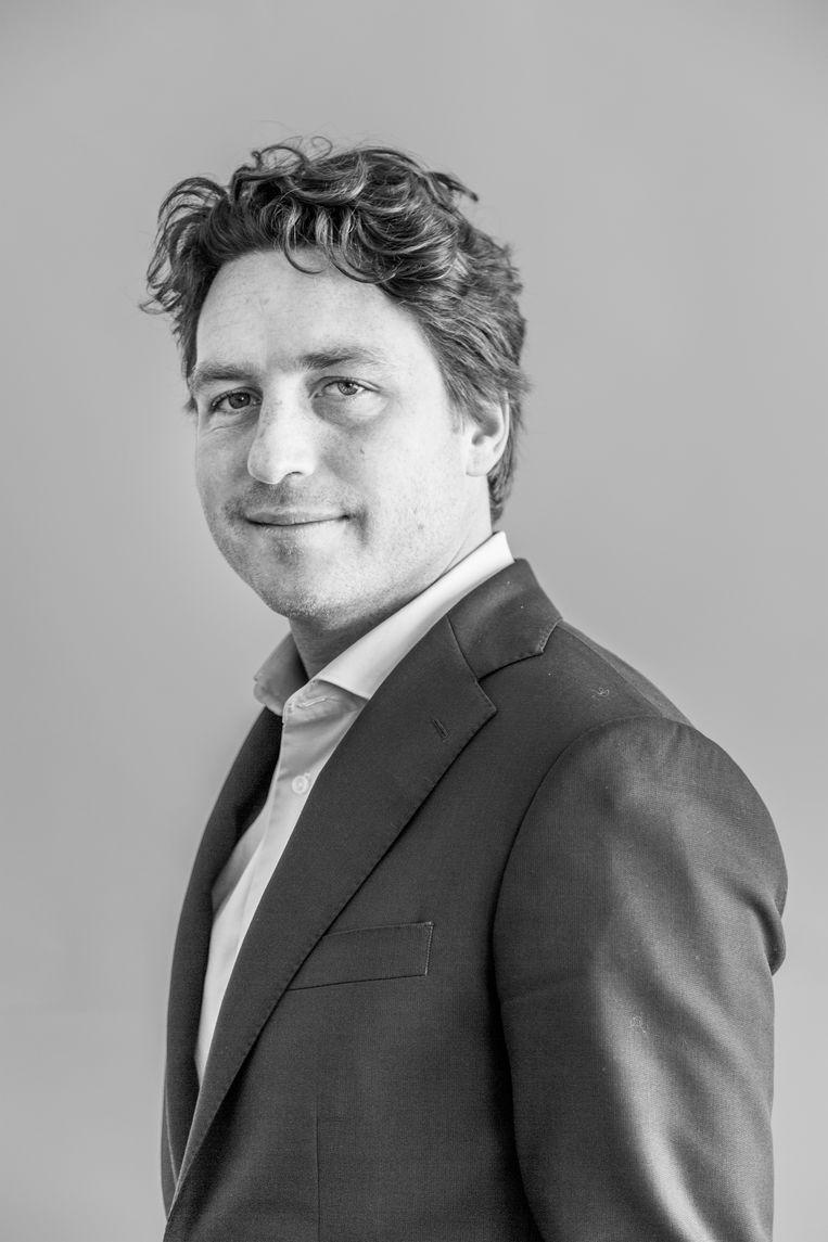 Reinier van Dantzig, Fractievoorzitter van D66 in de gemeenteraad van Amsterdam.  Beeld Van Nerum Tammy