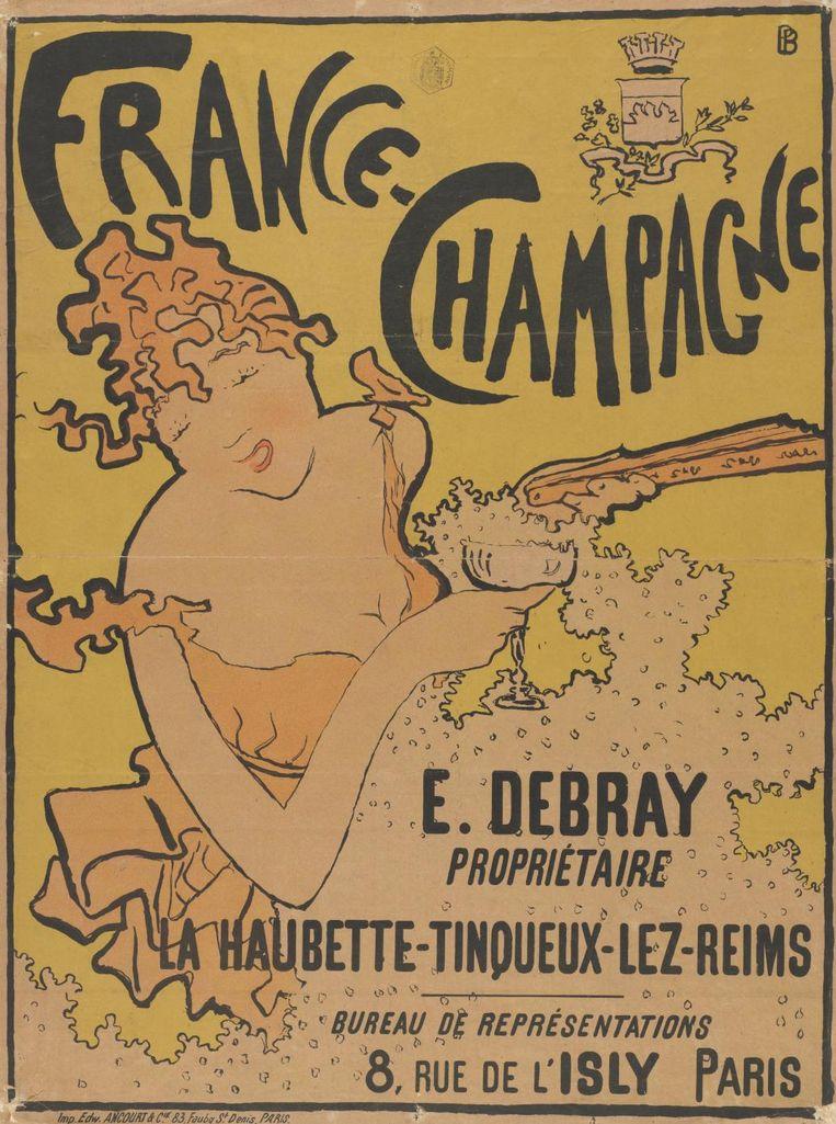Pierre Bonnard, affiche voor het merk France-Champagne, 1891. Beeld Van Gogh Museum, Amsterdam