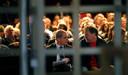 PvdA-leider Diederik Samsom en partijvoorzitter Hans Spekman op het congres in Leeuwarden