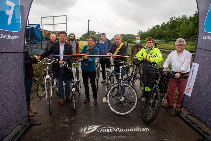 De opening van de fietssnelweg in Moortsele.