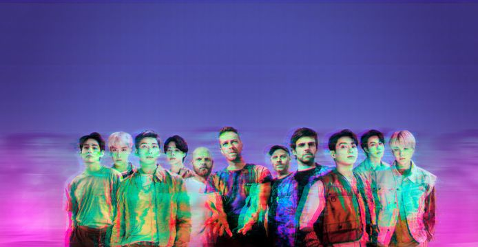 Coldplay en BTS brachten vandaag hun gezamenlijke single uit, My universe.