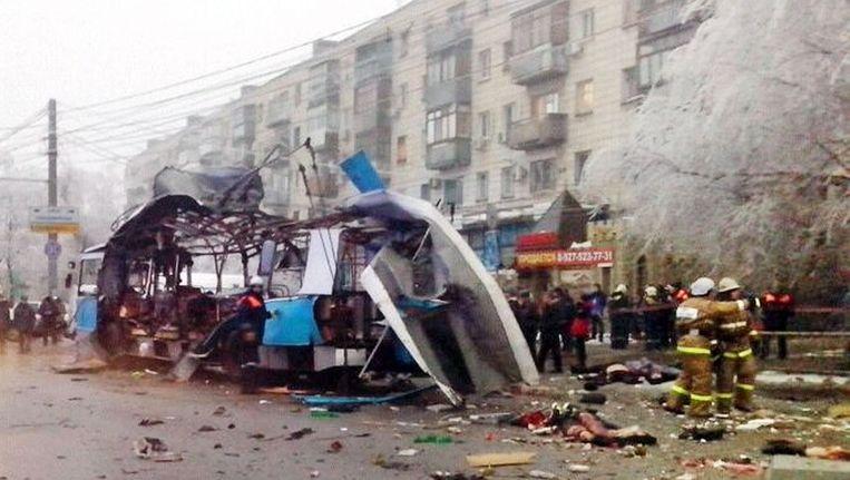 De miltanten eisen ook de aanslagen in Volgograd op in december. Beeld afp
