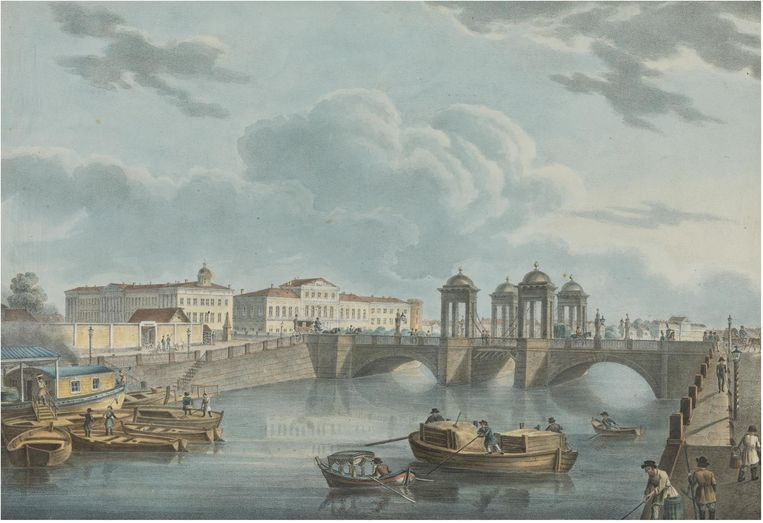 Sint-Petersburg in 1823 volgens de Russische schilder Karl Beggrov. Beeld Getty Images