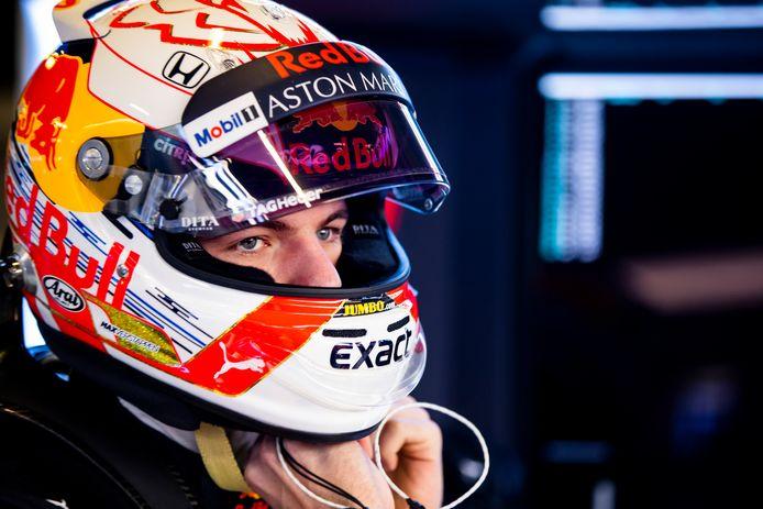 Max Verstappen tijdens de derde testdag op het Circuit de Catalunya.
