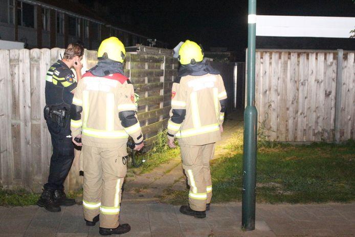 Politie en brandweer doen onderzoek.