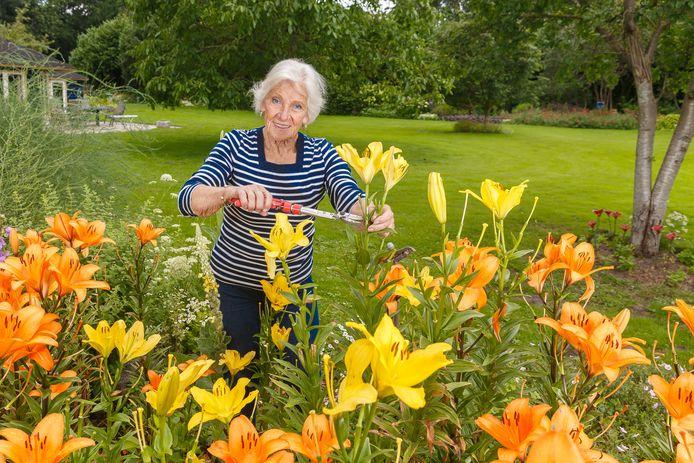 De tuin van Anna Kroes in Hattem.