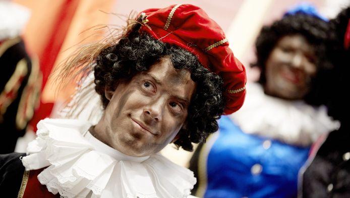 Een Piet in Amsterdam in 2014.
