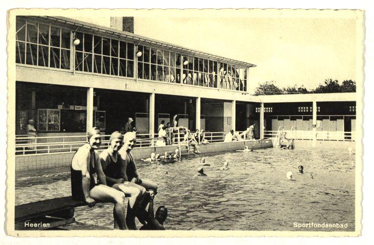 Het Sportfondsenbad in Heerlen. Beeld
