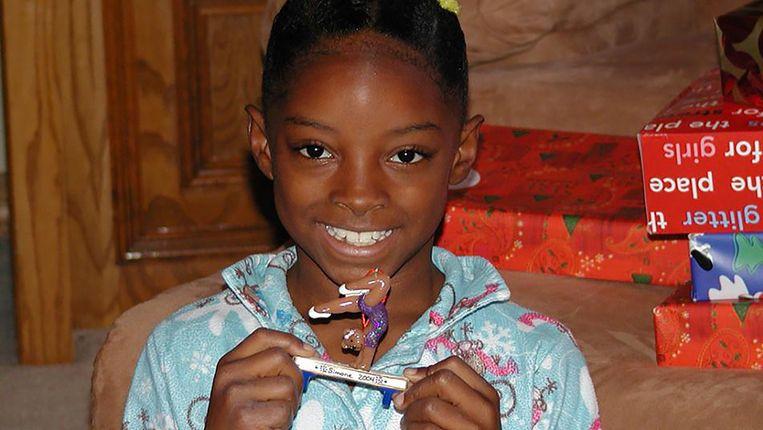 Simone Biles als kind Beeld RV