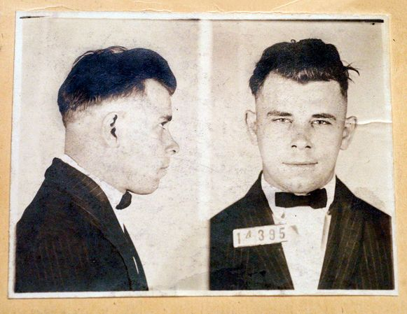 Enkele politiefoto's van John Dillinger.