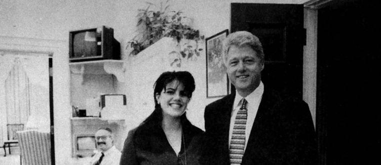 Bill Clinton en Monica Lewinsky. Beeld photo_news