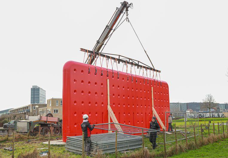 De Muur op het IJplein in Amsterdam-Noord. Beeld Anouk Hulsebosch