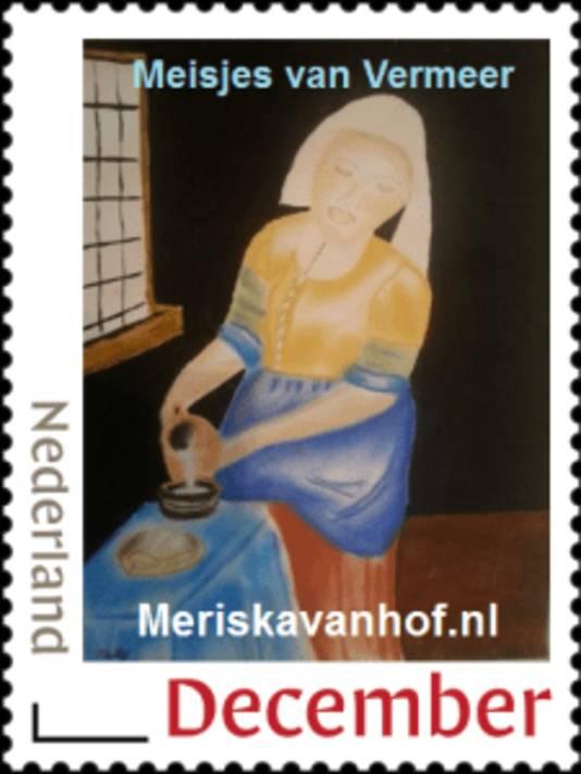 Een van de postzegels