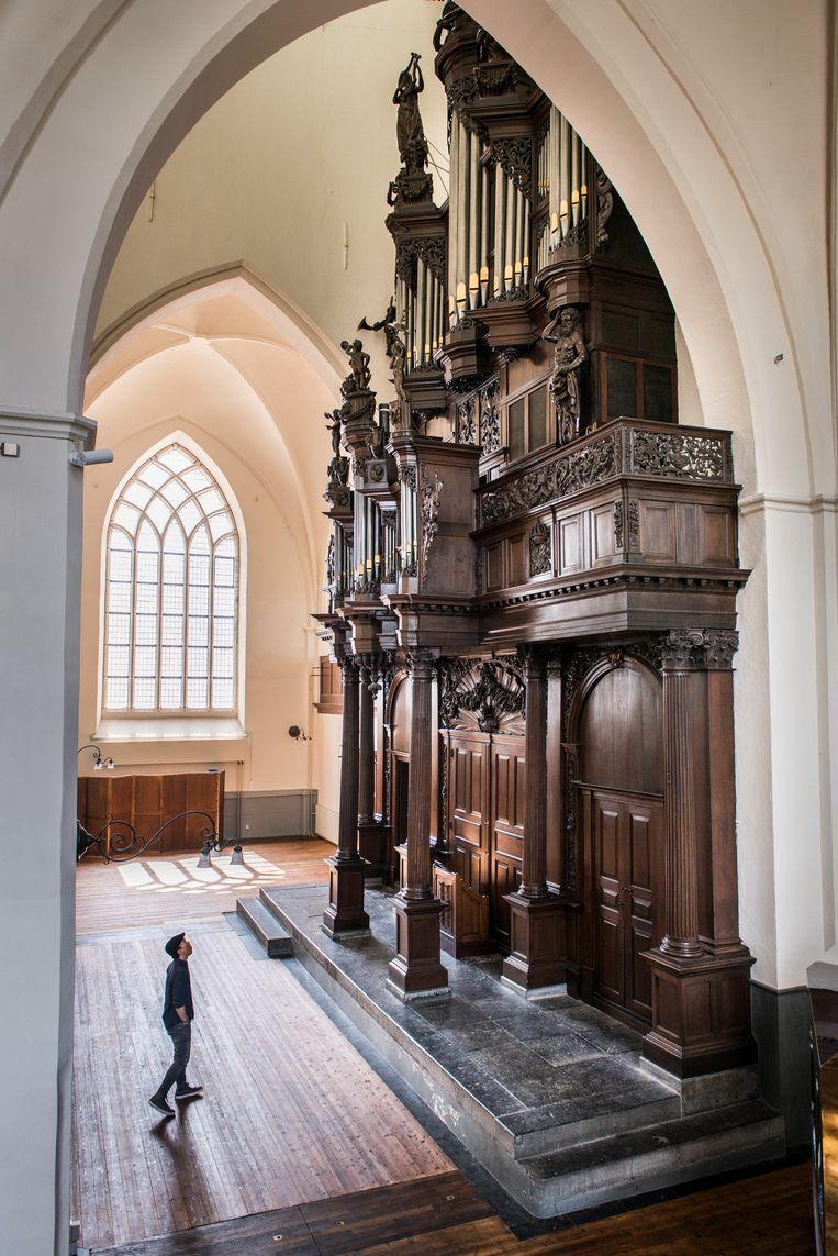 Groningen: Schnitgerorgel, Der Aa-kerk.   Beeld Eva Faché