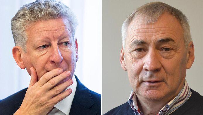 De Aalterse burgemeester Pieter De Crem en zijn collega van Knesselare Erné De Blaere.