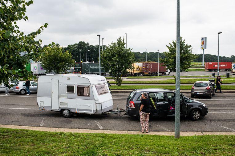 Nederlands vakantieverkeer op weg naar Frankrijk. Beeld Hollandse Hoogte /  ANP