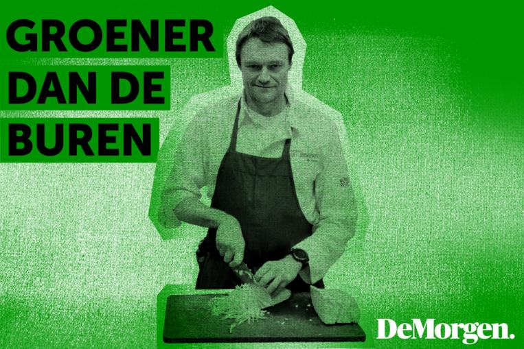 Sterrenchef Filip Claeys van restaurant De Jonkman in 'Groener dan de buren'. Beeld De Morgen