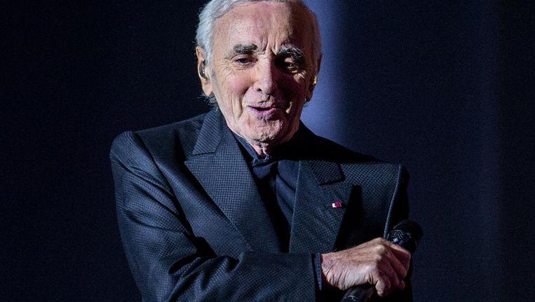 Charles Aznavour tijdens zijn concert in Amsterdam in januari 2016 Beeld ANP