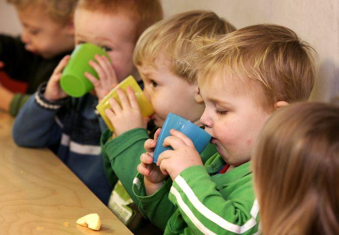 Foto ter illustratie. Kinderen op een peuteropvang in Nederland.