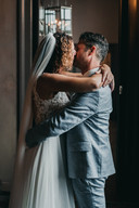 Bert en Suzan tijdens de fotoshoot vlak na de bruiloft.
