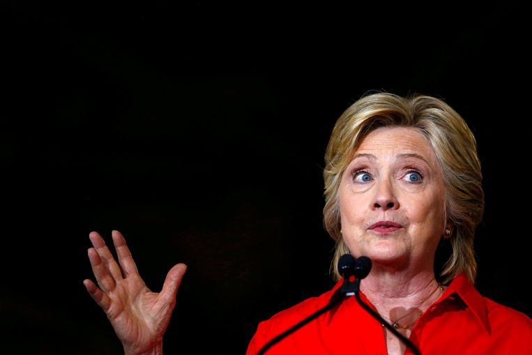 Democratic presidential candidate Hillary Clinton speaks at Johnstown Wire Technologies in Johnstown, Pennsylvania, U.S. on July 30, 2016.  Beeld REUTERS