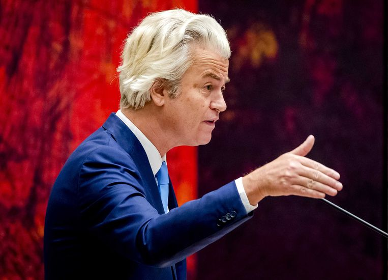 PVV-leider Geert Wilders . Beeld anp