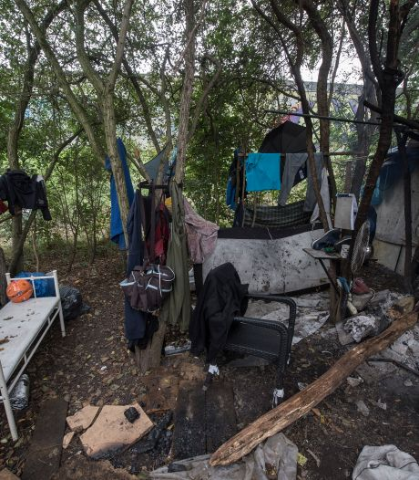 Welkom in het 'bosje van schaamte' in Tiel: hier proberen dakloze arbeidsmigranten te overleven