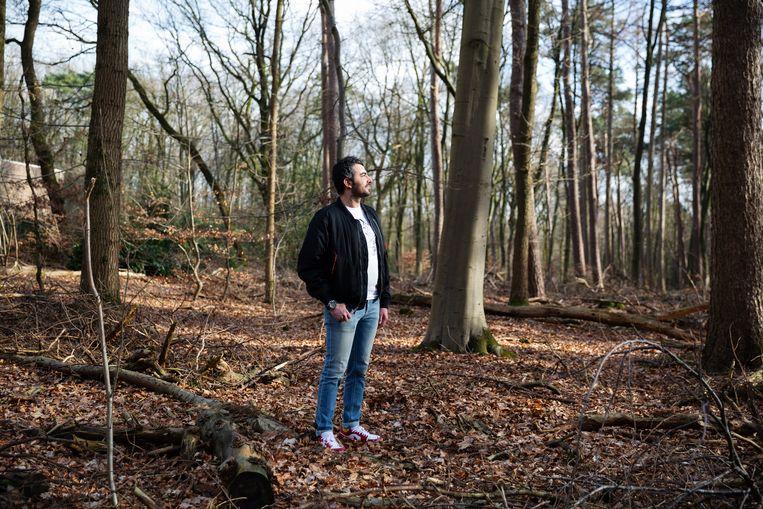 Mustafa Aljaradi: 'Ik kan absoluut niet terug naar Syrië'. Beeld Hanne van der Woude