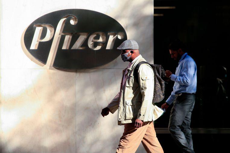 Het Pfizer-hoofdkantoor in New York. Beeld AFP