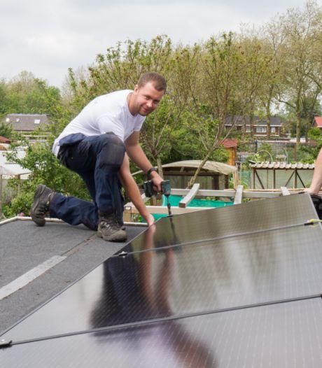 Naast zonnebloemen hebben Zutphense volkstuintjes nu ook zonnepanelen