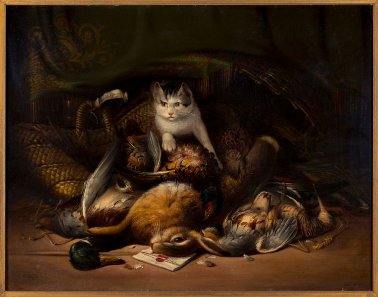 Jachttableau van Henriëtte Ronner-Knip (circa 1850). Beeld Het KattenKabinet