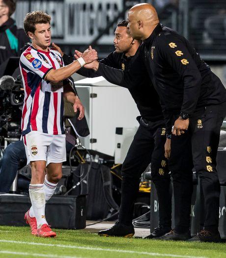 Köhlert is wel weer eens aan een goaltje toe bij Willem II