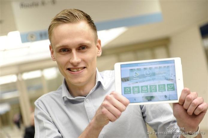 App-ontwikkelaar Ruben Groothuis.