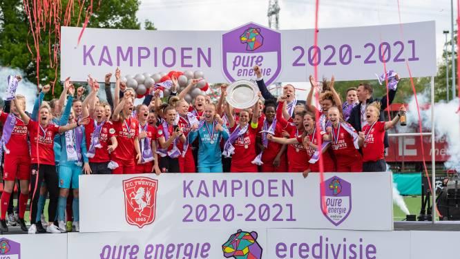 Vrouwen FC Twente kronen zich tot kampioen dankzij goal in extremis en nederlaag PSV
