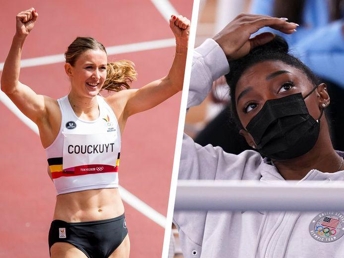 Paulien Couckuyt en Simone Biles.